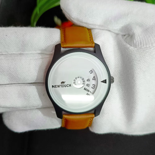 NewTouch Leather Strap  Analog Watch..