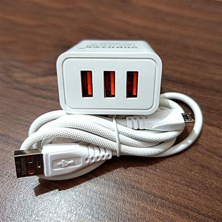 Sonutek 3 USB Port Mobile Fast Charge..