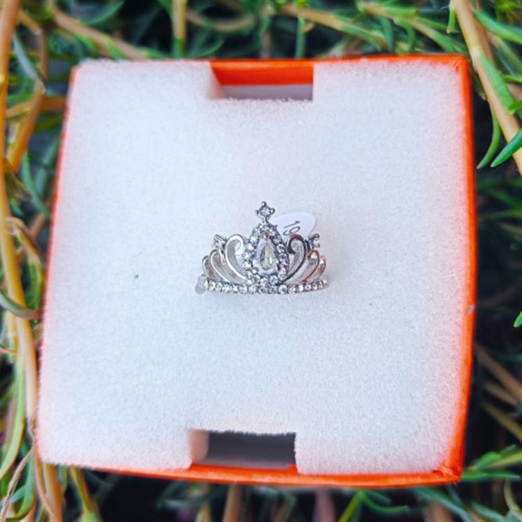 Copper Queen Crown Pattern Ring for W..