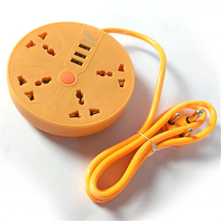 Heinz Extension Sockets With 3 USB Po..