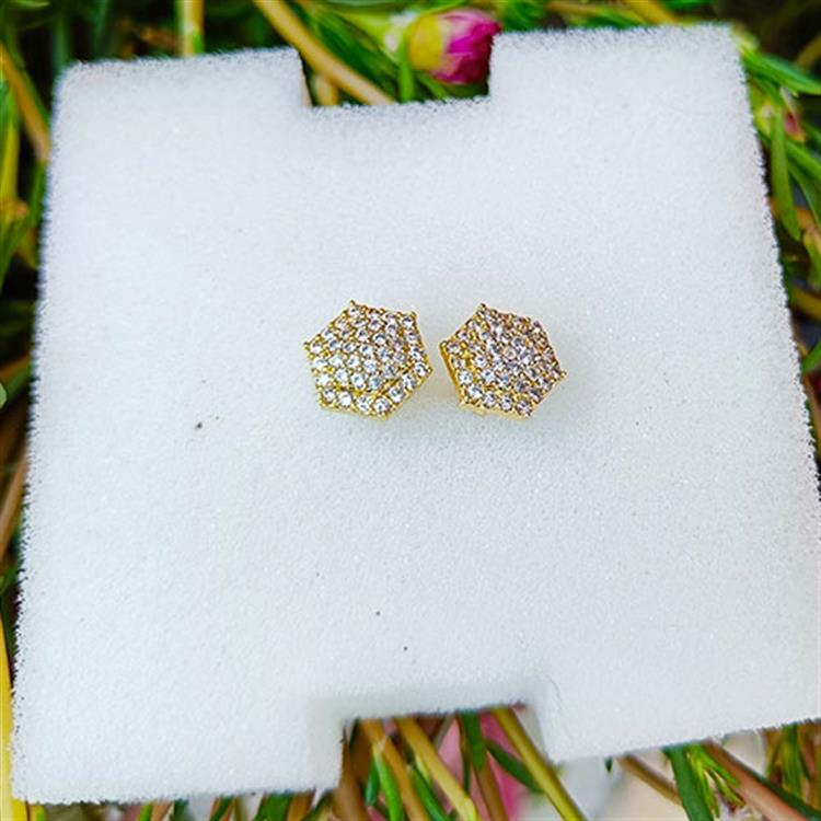 Trendz Gold Plated Dotted Texture Sma..