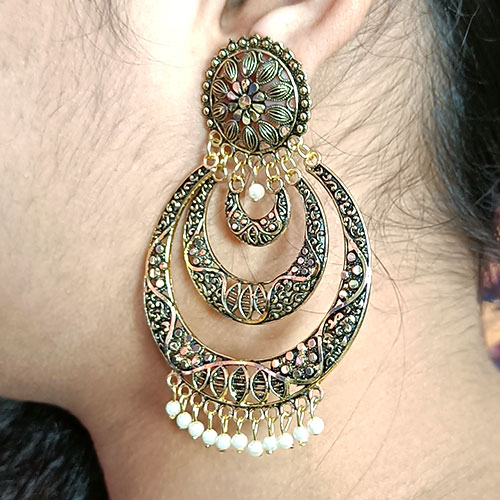 Big Gold Plated Earrings..