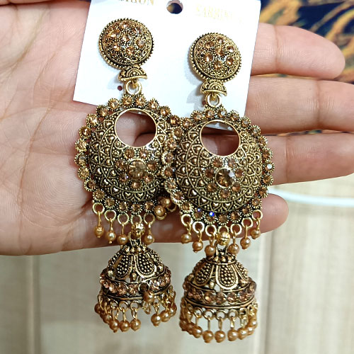 Traditional Alloy Gold Earring For Wo..