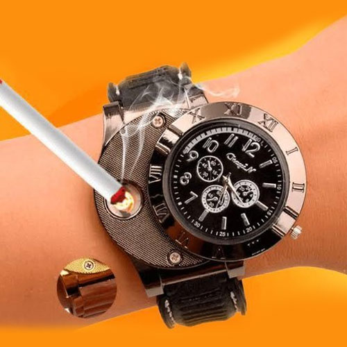Electronic Cigarette Lighter Watch wi..